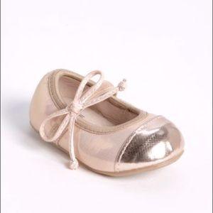 Stuart Weitzman Baby Marlin Blush Pink Ballet Shoe